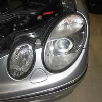 ベンツE350 ヘッドライト黄ばみ除去