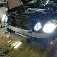ベンツE350 ヘッドライトHID化