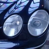 ベンツCL500 ボディ軽板金 ヘッドライトクリーニング