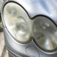 ベンツCLK320 ヘッドライト曇り・黄ばみ除去