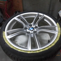 BMWアクティブハイブリット7Mスポーツ ホイールリペア