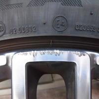 ベンツS550 ホイールリペア