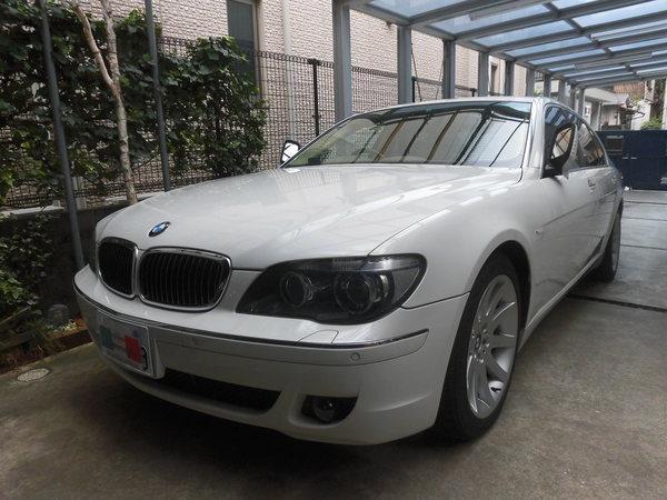 BMW750Li ボディコーティング、室内クリーニング