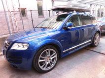 VWトアレグW12モールブラックラッピング、キャリパー塗装